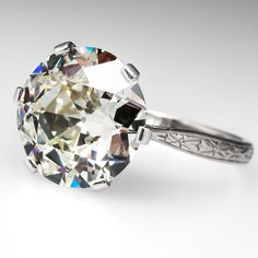 Antique 5 Carat Old European Diamond Engagement Ring