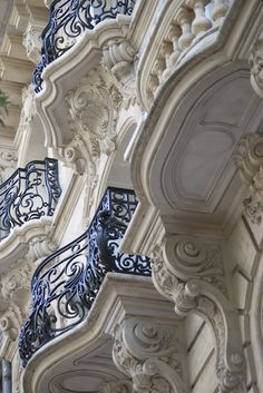 French balcony architecture, Paris