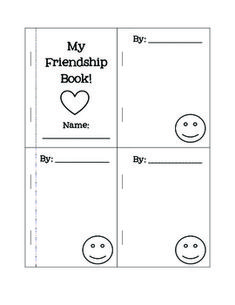 Free! Friendship Book! friendship builder activity! Activity for social skills!