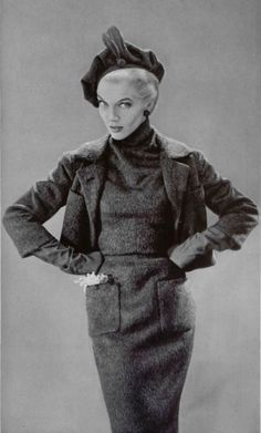 1955 christian dior suit green