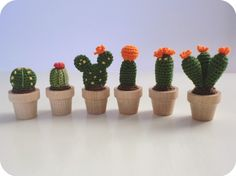 Tiny crochet cactus