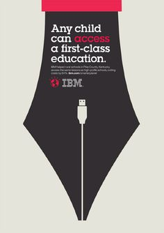 negative space. Ogilvy ad for IBM.