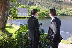 The men are ready to go - Gougane Barra, West Cork, Ireland #wedding