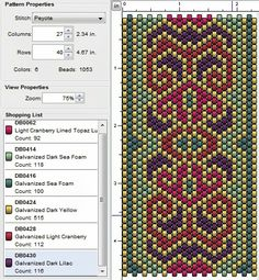 Beading: Peyote Stitch Pattern 24