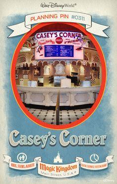 Walt Disney World Planning Pins: Casey's Corner