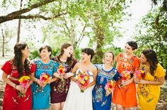 colorful bridesmaid dresses | Bee Photographie @Haley Shepherd