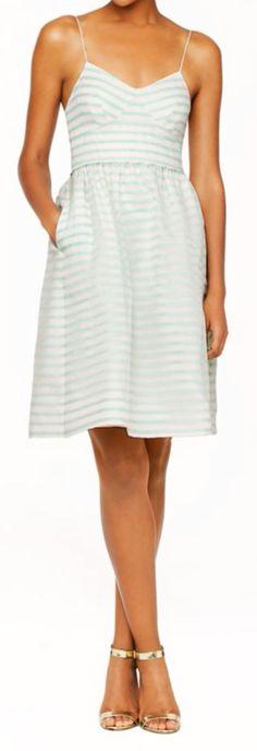 Mint stripes dress #jcrewwedding
