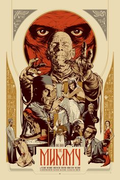 Another gorgeous classic Monster poster, the detail on this is awesome. film, martin ansin, the mummy, movi poster, monster, mummi, posters, illustr, print