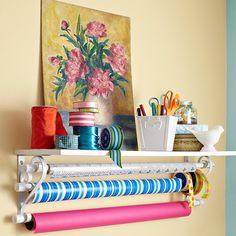 """PVC gift-wrapping shelf.    """":O)"""