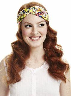 Throw on a cute turban headband for summer