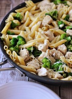 Try this one pot wonder meal. You can't go wrong with Lemon Chicken Pasta with Broccoli | Mel's Kitchen Cafe