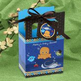 Under the Sea Favor Box. Go to: http://www.modern-baby-shower-ideas.com/fun-baby-shower-ideas.html use coupon code: modern11 and save 11% These are cute to insert your baby shower favor, cookies or some candy.  A great idea for you under the sea baby shower theme.
