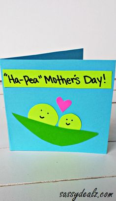 """Ha-Pea"" Mother's Day Card for Kids to Make"