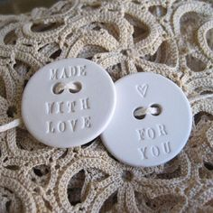 Clay stamp buttons