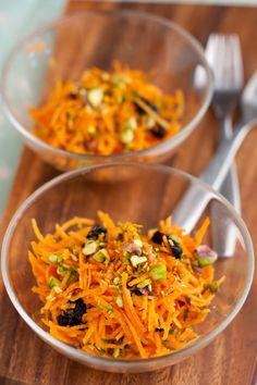 Shredded Carrot and Pistachio Slaw
