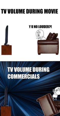 TV volume.