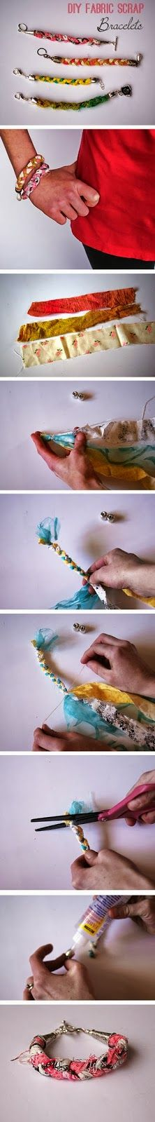 Diy Easy Scrap Fabric Bracelet