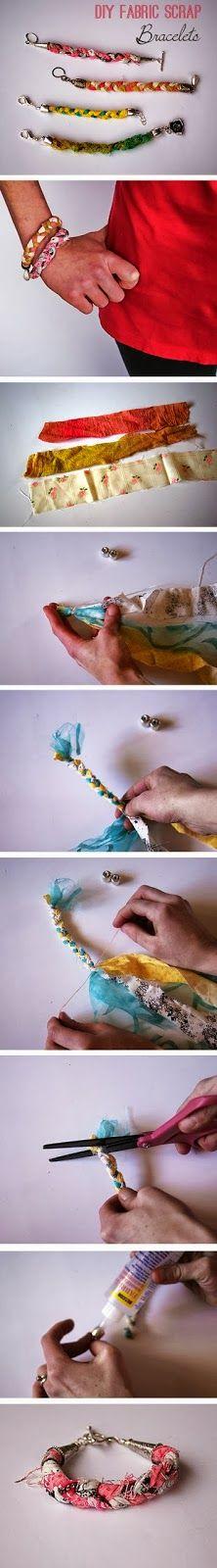 Diy Easy Scrap Fabric Bracelet