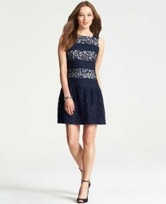 Flounce Hem Lace Dress #ATHauteHoliday
