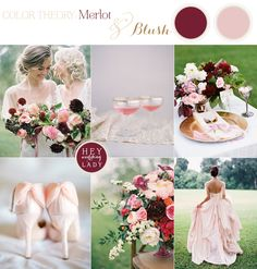 The Hottest Color for Fall 2014 - Merlot and Blush Autumn Wedding Inspiration | See More! http://heyweddinglady.com/fall-2014s-hot-color-mer...