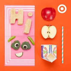 School lunch is more fun when kids see their food is sending them a fun message.