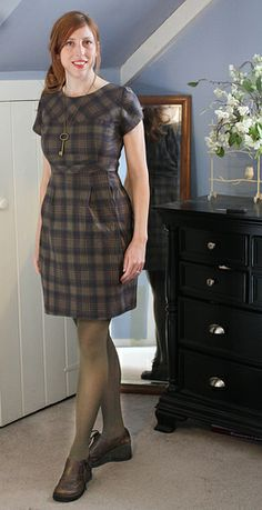 Plaid Macaron by Colette Patterns #sewing