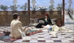 Ferdinand Max Bredt- Femmes Turques 1883 (Oil on canvas)