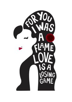 Amy Winehouse Heartbeats Challenge Print - Love Is A Losing Game. £10.00, via Etsy. challeng