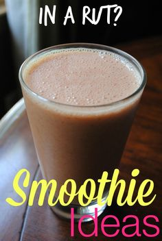 Yawning at your usual smoothie? Bust boredom with these smoothie ideas!