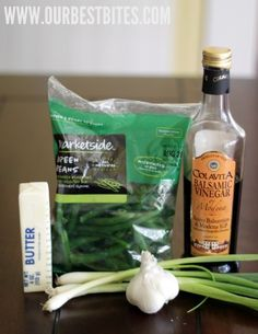 balsamic green beans, absolutely delicious!  Quick and easy.