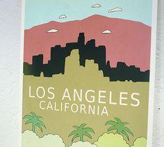 Wall Art City Skyline - Los Angeles California