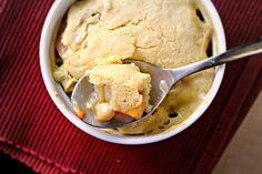 chickpea pot pie with cornbread crust