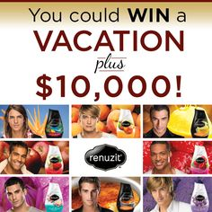 Enter to win $10,000 and a trip from Renuzit!  #vacation (www.facebook.com/Renuzit/app_506447322767153)