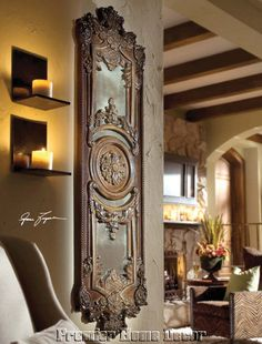 wall art, wall hangings, wall decor, antique mirrors, wall color