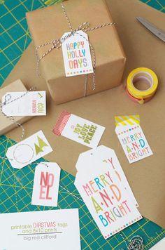 big red clifford: Free printable christmas tags and prints