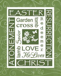 Religious Easter printable