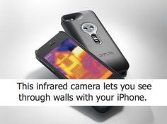 Uh. Oh. But can it see through clothes?  Ever wanted to see through walls with your iPhone? No problem. This new case combines thermal images with data from the phone's camera to deliver a sharp image: http://wrd.cm/XrP80Q via WIRED