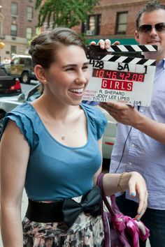 Zosia Mamet filming #GIRLS Season 1 in 2011.