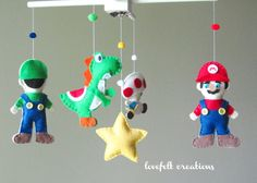 Mario Brothers Inspired Baby Mobile