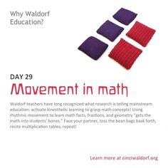 """Movement in math"" Things We Love About Waldorf Education"