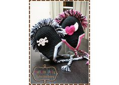 Mohawk Hat Crochet Pattern - MADDOX - 302 --- Permission to Sell FInished Items. $5.50, via Etsy.