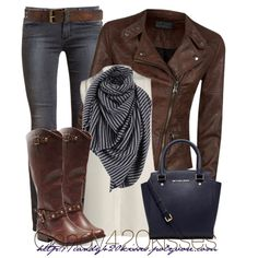 cloth, chocolate brown, knee high boots, leather boots, fall outfits, untitl 87, leather jackets, womens boots outfits, brown boots