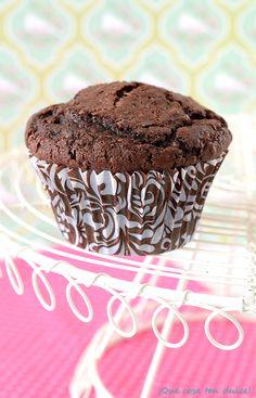 ¡Qué cosa tan dulce!: Muffins de chocolate negro y avellanas
