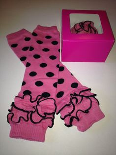 Pink Leg Warmers with Black Polka Dots and by SandmansDream, $7.00  https://www.etsy.com/listing/169053936/pink-leg-warmers-with-black-polka-dots?ref=sr_gallery_7&ga_order=date_desc&ga_view_type=gallery&ga_ref=fp_recent_more&ga_page=11&ga_search_type=all