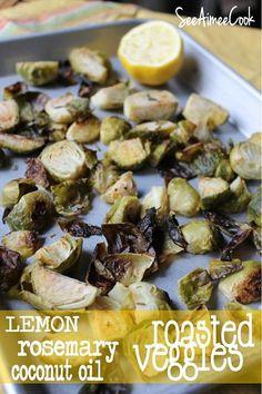 Lemon Rosemary Coconut Oil Roasted Veggies