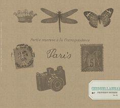 Free Vintage Postcard Ephemera Brushes