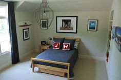 A clean and classic bedroom easily altered to reflect your boy's ever-changing interests.