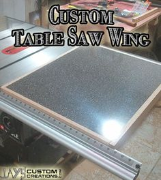 Make a custom table saw wing