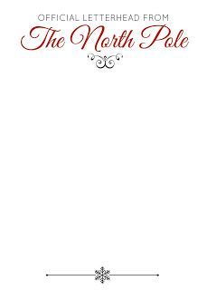 Official Letterhead From The North Pole (Free Printable) Great for letters from Santa or Elves.  Repinned by www.mygrowingtraditions.com