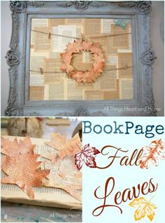 Beautiful fall project- BookPage #fall leaves